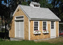 Cape Cod Garage Plans by Delightful 2 Story Garage Kit 4 Custom Garden Shed Shingled New