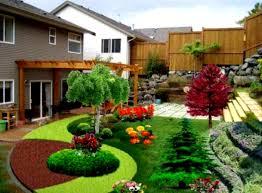 landscape design for backyard privacy garden post small yard