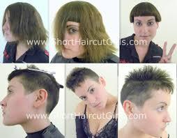 shaved undercut short hair short haircut girls