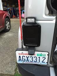 jeep wrangler backup lights backup lights installed rigid sr m on rigid tail light mount jeep