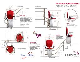 chair lift for curved stairs ameriglide platinum stair lift curved