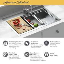 metal kitchen sink and cabinet combo chive 33x22 inch stainless steel kitchen sink workstation