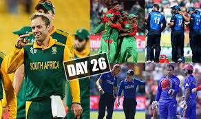 Cricket World Cup Table 2015 Cricket World Cup Day 26 Highlights Points Table And