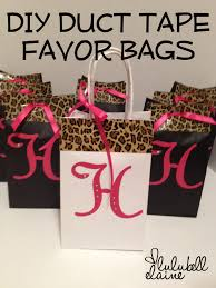 bachelorette party gift bags diy duct party favor bags lulubell elaine