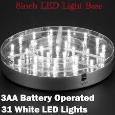 Led Vase Base Light E Maxi Luminator Light Base 31 White Leds 8inch Diameter 3aa