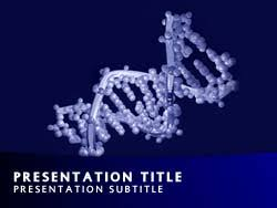royalty free dna double helix powerpoint template in blue