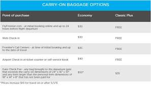 frontier baggage fees frequent flyer traveldynamos