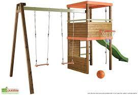 si ge b b balan oire portique bois avec toboggan la boutique en ligne portique en bois