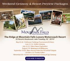 mountain falls luxury motorcoach resort announces weekend getaway