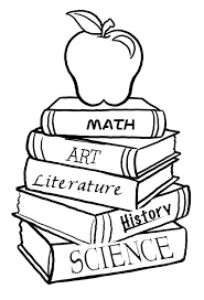 Coloring Page Of A Coloring Pages Books A Pile Of School Books For The First Day Of by Coloring Page Of A