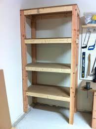 Building Wood Shelves 2x4 by Diy Garage Shelves 2x4 48 Inch Floating Homebase Shelving Build