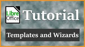 templates and wizards libreoffice writer v5 1 3 tutorial 2016