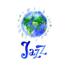 world day design template watercolor jazz suitable for
