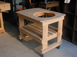 Big Green Egg Table Dimensions Big Green Egg Cart By Sawdustonmyshoulder Lumberjocks Com