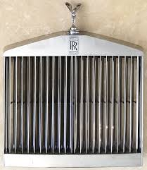 1968 rolls royce silver shadow chrome grille spirit of ecstasy