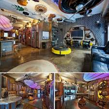 deluxe 80s steampunk style with with outdated technology decor