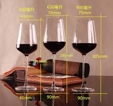 handmade lead free crystal red wine glass cup red bordeaux wine
