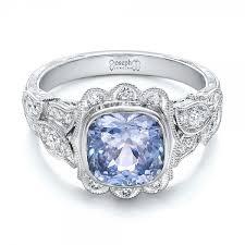 beautiful girl rings images Custom light blue sapphire and diamond engagement ring 102135 jpg