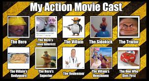 Movie Meme - the action movie cast meme but ironically memed by mrlorgin on