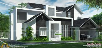 Western Homes Floor Plans by Western Style Modern Home Kerala Home Design And Floor Plans