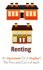 renting an apartment vs a duplex deciding what is best
