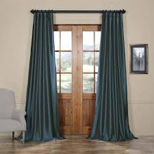 Navy Blue Sheer Curtains Blue Curtain Exclusive Fabrics Solid Faux Silk Taffeta Navy Blue