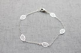 bracelet leaf images Silver wedding simple silver leaf bracelet s3104 2286963 jpg