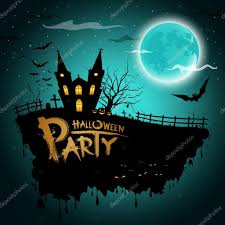halloween party greeting card u2014 stock vector sarunyu foto 13346688