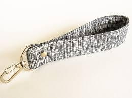 fabric key fob key fob fabric key chain key ring wrist wrist lanyard