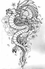 tribal chinese dragon tattoos front facing dragon dragons pinterest dragons chinese