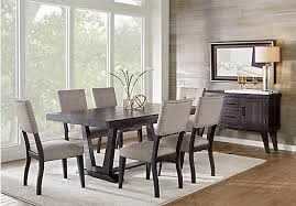 5 dining room sets hill creek black 5 pc rectangle dining room rustic