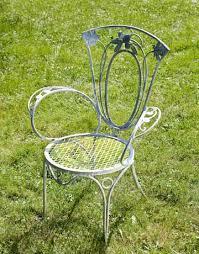 Wrought Iron Patio Chair Vintage Wrought Iron Patio Table Gccourt House