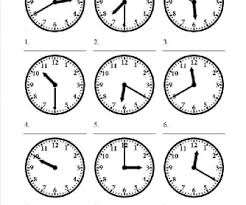number names worksheets clock faces with times free printable
