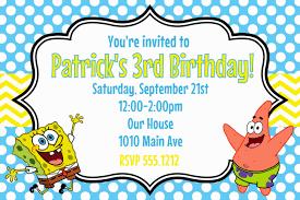 Birthday Invitation Cards Free Spongebob Birthday Card U2013 Gangcraft Net
