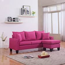 Chaise Transparente Rose by Amazon Com Modern Linen Fabric Small Space Sectional Sofa With