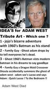ideas for adam tribute which one 1 jojo s