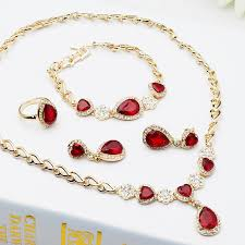 gemstone necklace sets images 2015 fashion indian jewelry with red blue imitation gemstone jpg