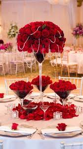 Red Wedding Decorations 136 Best Party Flowers Images On Pinterest Flower Arrangements