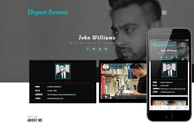 Resume Website Template Free Resume Templates W3layouts Com