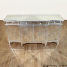 Servers Buffets Sideboards Glass Transitional Sideboards Buffets U0026 Trolleys Ebay