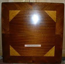 Wooden Folding Card Table Vtg Antique Castlewood Wood Inlay Folding Card Table Bridge Craft