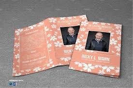 sle of funeral program purple flower funeral program brochure templates creative market