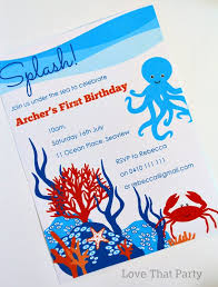 love that party u2014 under the sea party printable invitation
