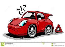 cartoon sports car cartoon car with a flat tire stock vector image 65486061