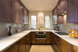 kitchen room kitchen cabinets yellow brown cabinetry also red