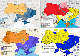 russia map after division i hear that ukraine is divided between east and west can you