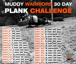 The Challenge How To Do It Muddy Warriors 30 Day Plank Challenge Muddy Warriors Experience