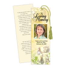 memorial bookmarks memorial bookmarks cherub memorial bookmark template
