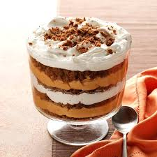 pumpkin butterscotch gingerbread trifle recipe taste of home