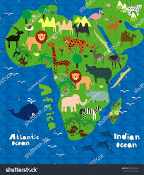 Maps Of Africa by Map Of Africa Cartoon Clipartfest